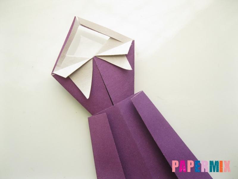 Как сделать платье из бумаги (оригами) своими руками - шаг 24