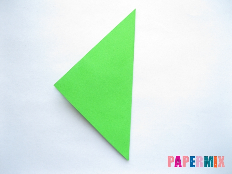Как сделать ромб из бумаги (оригами) поэтапно - шаг 1