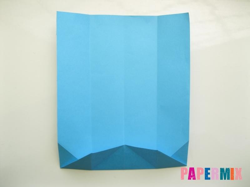 Как сделать рубашка с галстуком из бумаги (оригами) - шаг 10