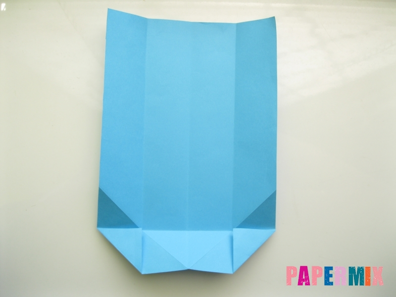 Как сделать рубашка с галстуком из бумаги (оригами) - шаг 11