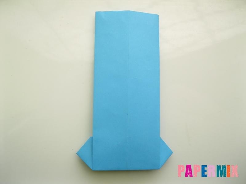 Как сделать рубашка с галстуком из бумаги (оригами) - шаг 14