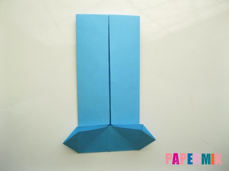 Как сделать рубашка с галстуком из бумаги (оригами) - шаг 16
