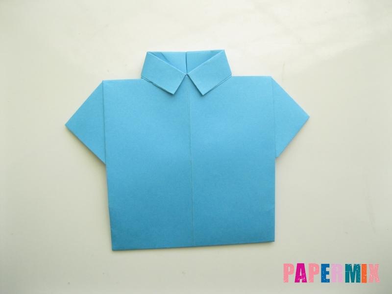 Как сделать рубашка с галстуком из бумаги (оригами) - шаг 19
