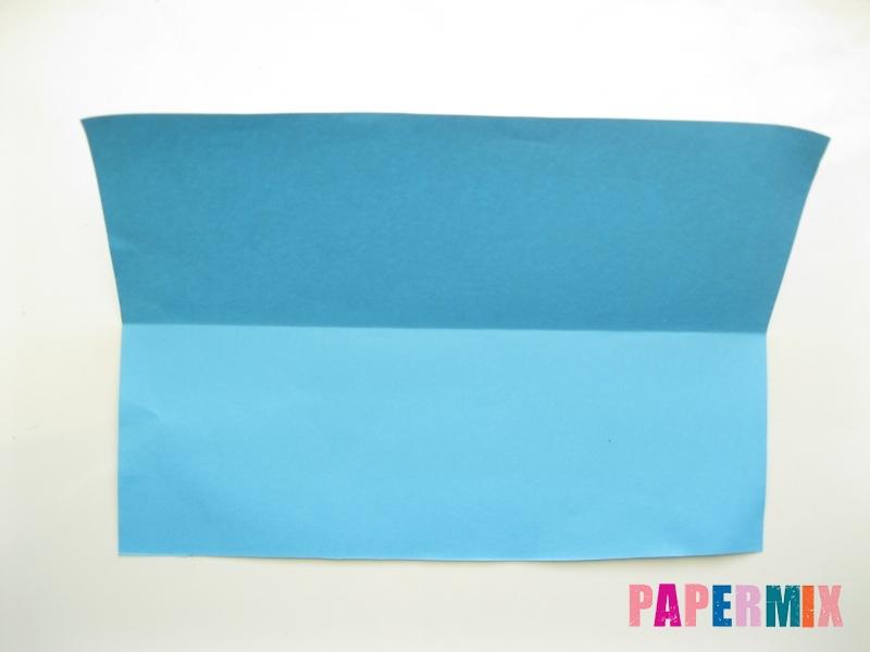 Как сделать рубашка с галстуком из бумаги (оригами) - шаг 2