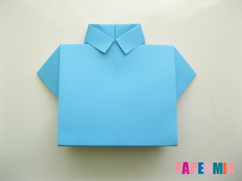 Как сделать рубашка с галстуком из бумаги (оригами) - шаг 22