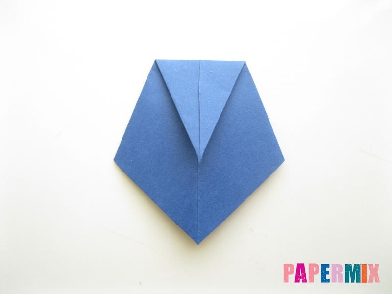 Как сделать рубашка с галстуком из бумаги (оригами) - шаг 26