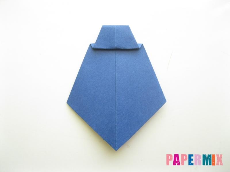 Как сделать рубашка с галстуком из бумаги (оригами) - шаг 28