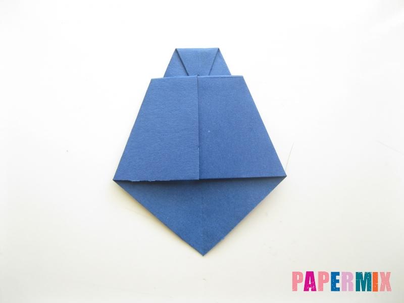 Как сделать рубашка с галстуком из бумаги (оригами) - шаг 29