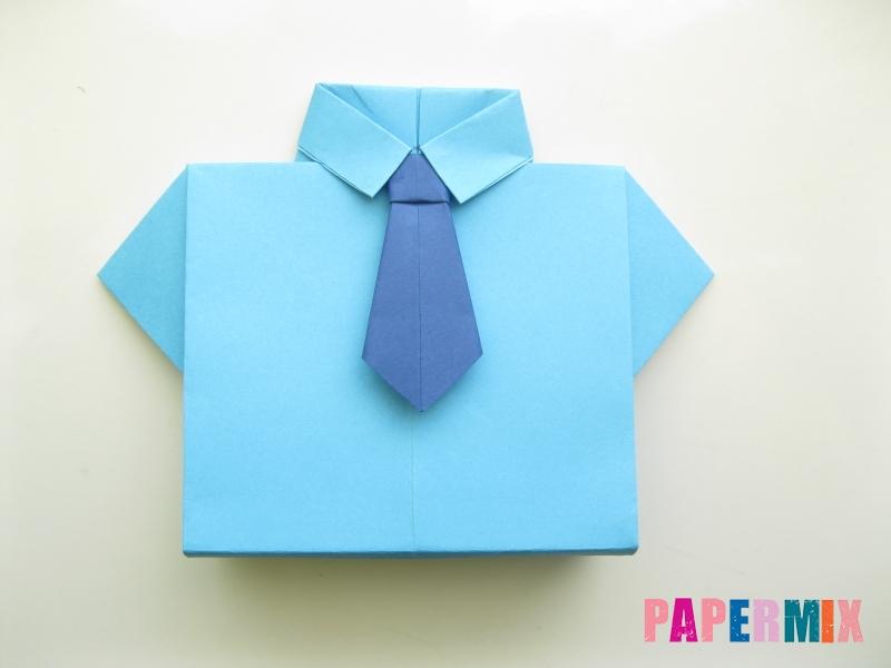 Как сделать рубашка с галстуком из бумаги (оригами) - шаг 32