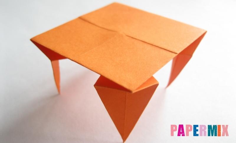 Как сделать стол из бумаги в технике оригами поэтапно