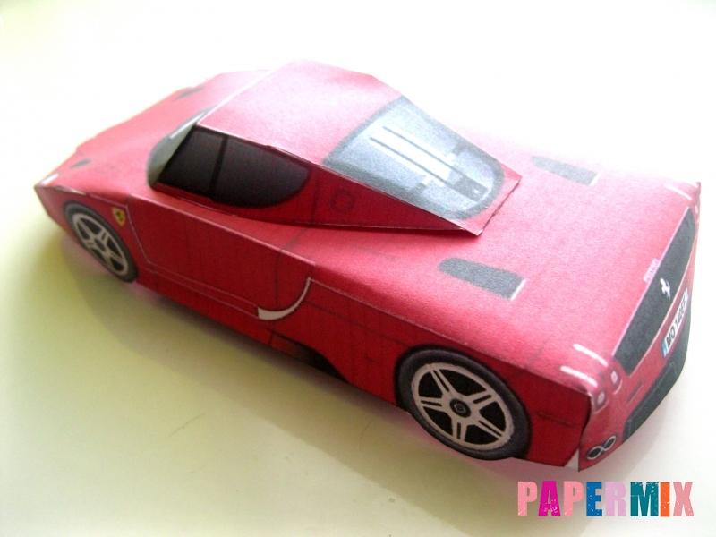 Как сделать Ferrari по шаблону из бумаги поэтапно - шаг 11