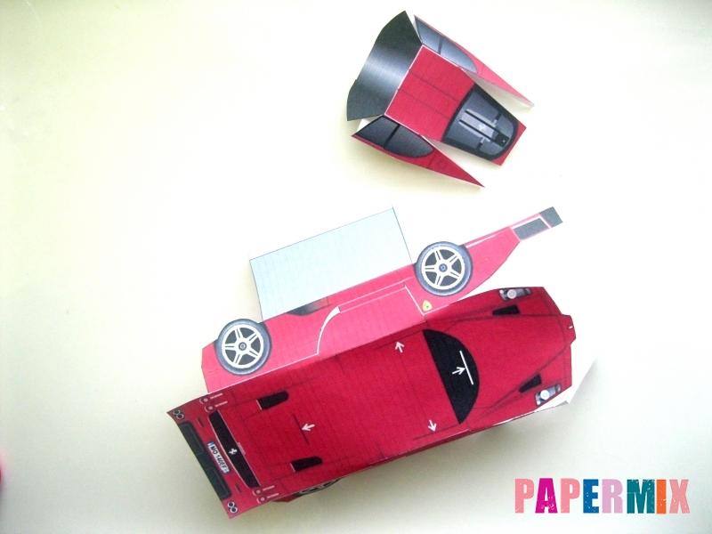 Как сделать Ferrari по шаблону из бумаги поэтапно - шаг 2