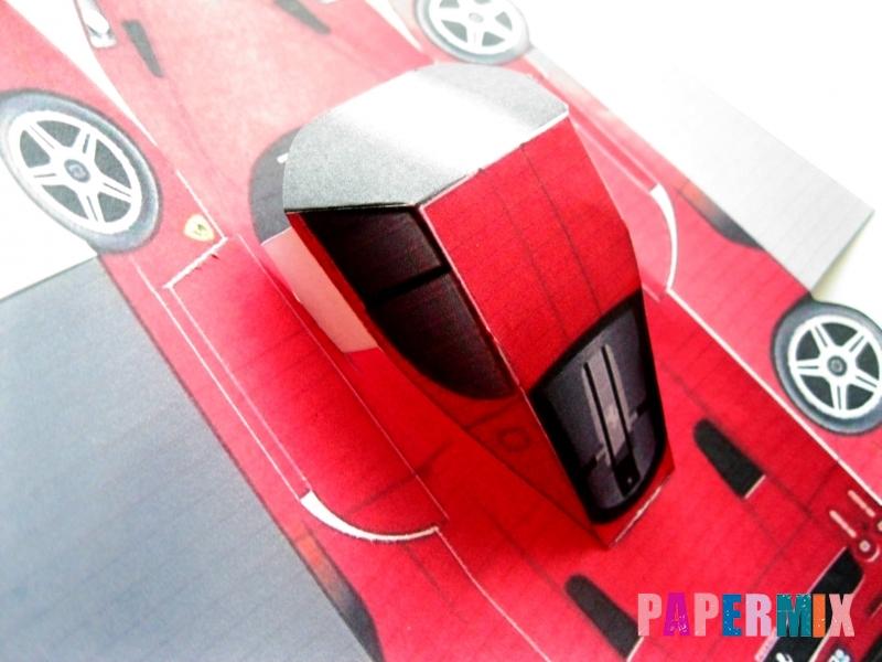 Как сделать Ferrari по шаблону из бумаги поэтапно - шаг 5