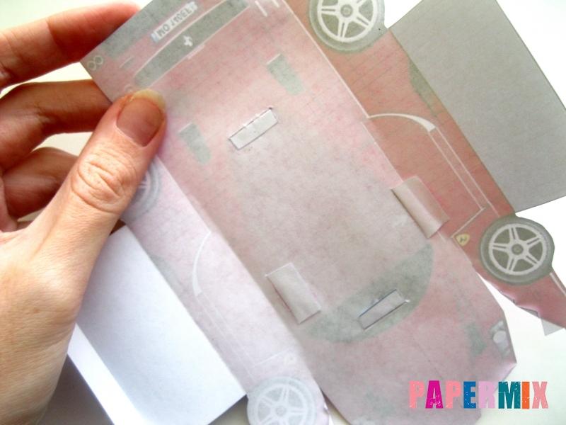 Как сделать Ferrari по шаблону из бумаги поэтапно - шаг 6