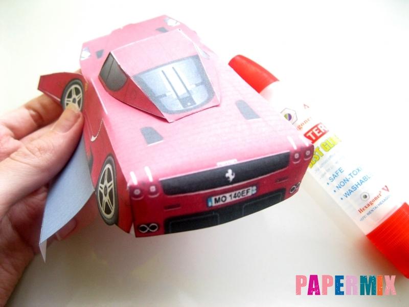 Как сделать Ferrari по шаблону из бумаги поэтапно - шаг 7