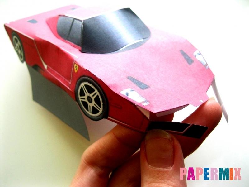 Как сделать Ferrari по шаблону из бумаги поэтапно - шаг 8
