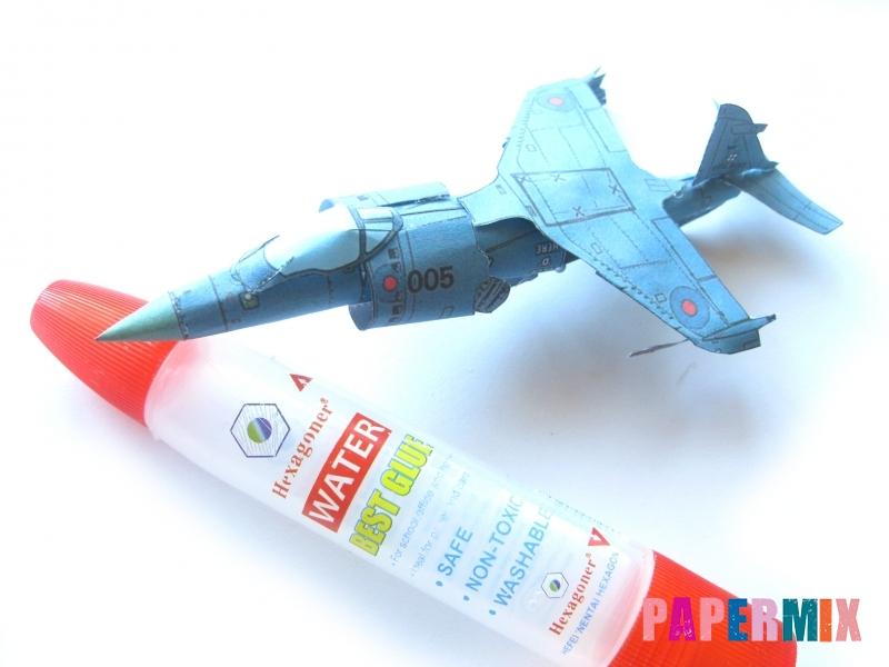 Как сделать самолет Бритиш Аэроспейс «Си Харриер» по шаблону - шаг 13