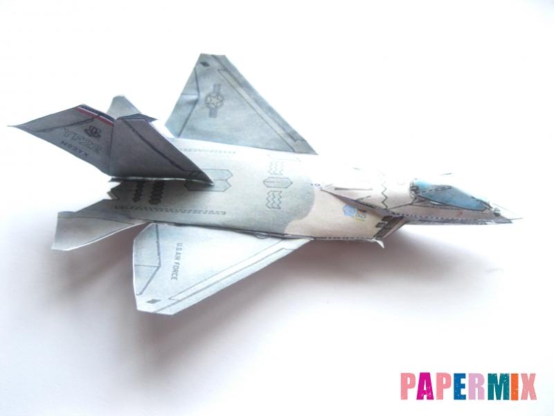 Как сделать самолет F-22 Lightning II из бумаги своими руками - шаг 5