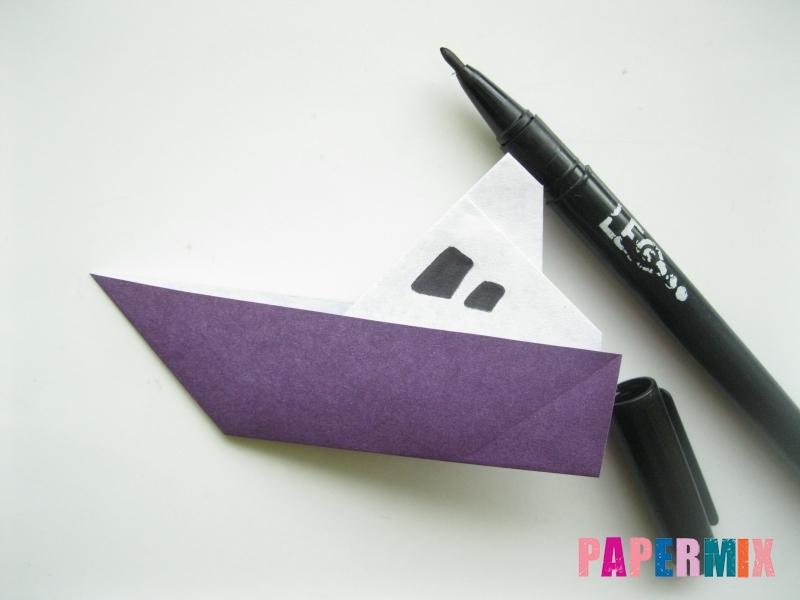 Как сделать корабль из бумаги (оригами) своими руками - шаг 10