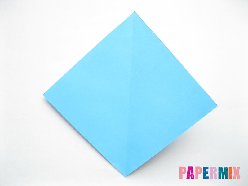 Как сделать парусник из бумаги (оригами) поэтапно - шаг 1