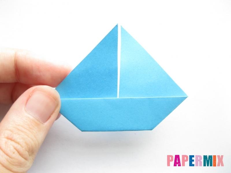 Как сделать парусник из бумаги (оригами) поэтапно - шаг 10