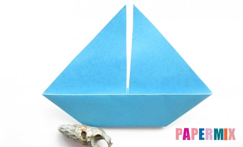 Как сделать парусник из бумаги в технике оригами своими руками поэтапно
