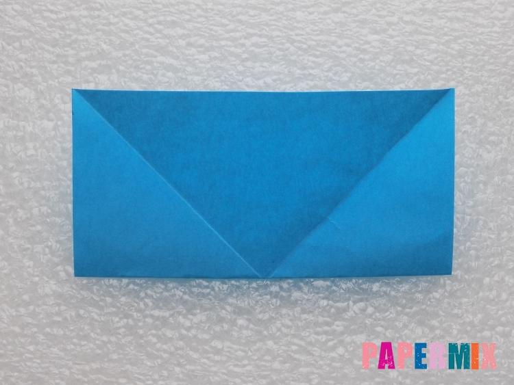 Как сделать ракету из бумаги поэтапно - шаг 3