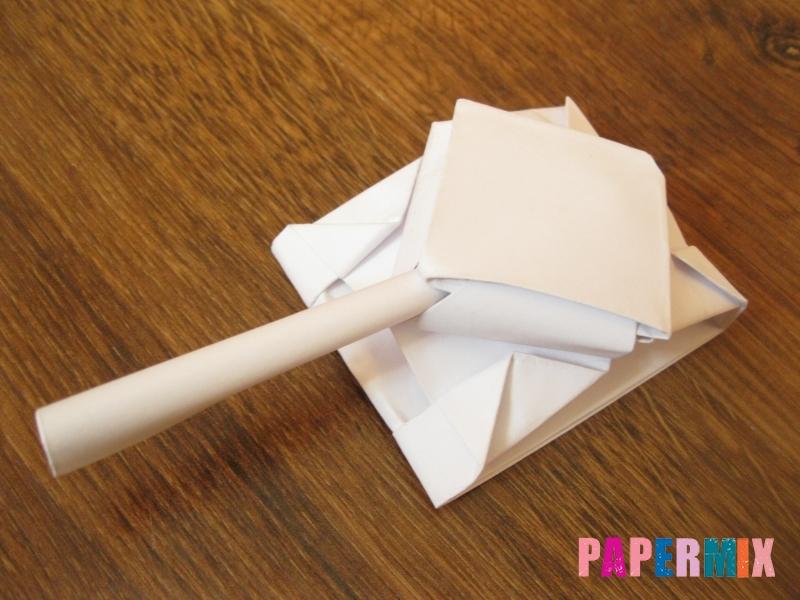 Как сделать танк Т-90 из бумаги (оригами) поэтапно - шаг 17