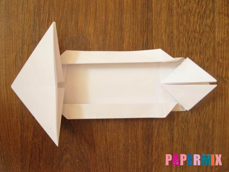 Как сделать танк Т-90 из бумаги (оригами) поэтапно - шаг 9