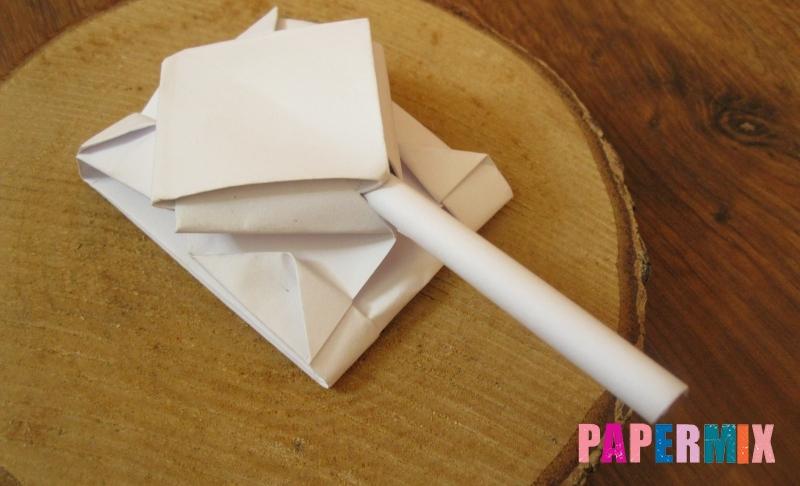 Как сделать танк Т-90 из бумаги в технике оригами поэтапно