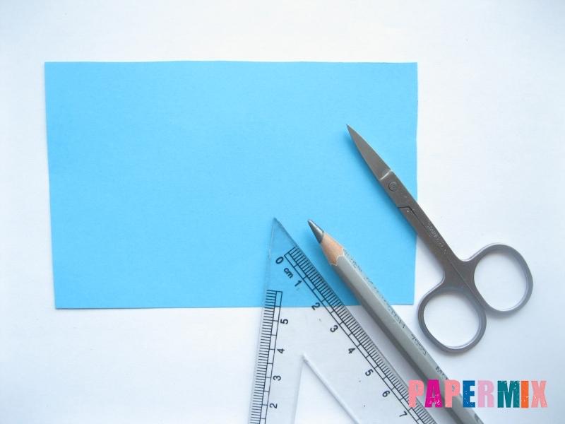 Как сделать трактор из бумаги поэтапно - шаг 1