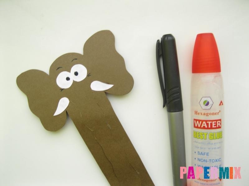 Как сделать носатую закладку слона из бумаги своими руками - шаг 6