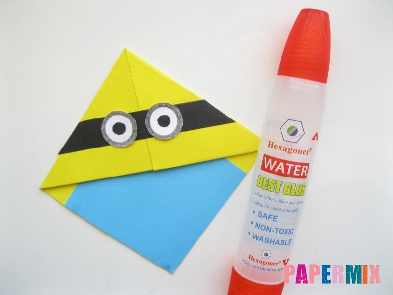 Как сделать закладку для книг в виде миньона из бумаги - шаг 14