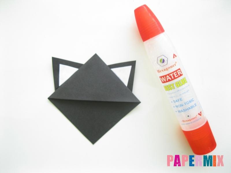 Как сделать закладку кота из бумаги своими руками - шаг 7