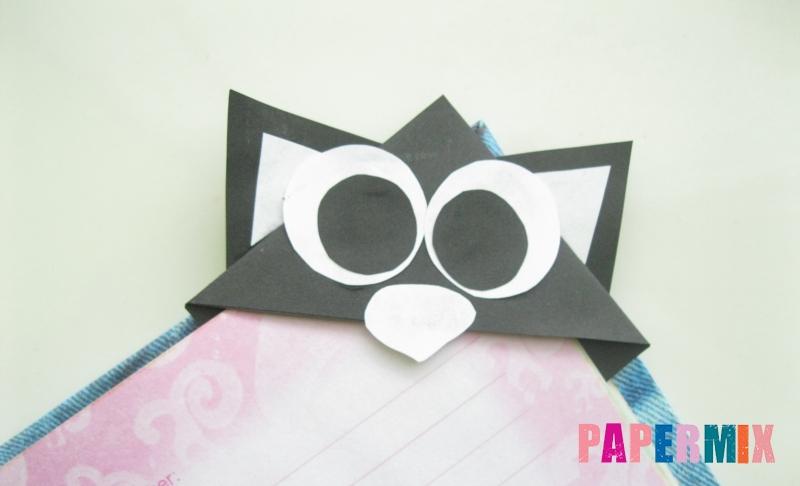 Как сделать закладку в форме мордочки кота из бумаги своими руками