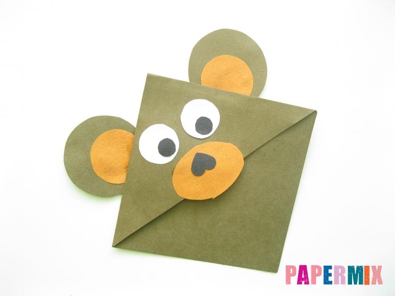 Как сделать закладку мишку из бумаги своими руками - шаг 8