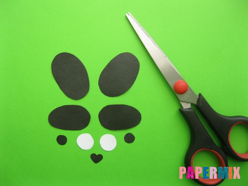 Как сделать закладку панду из бумаги своими руками - шаг 7