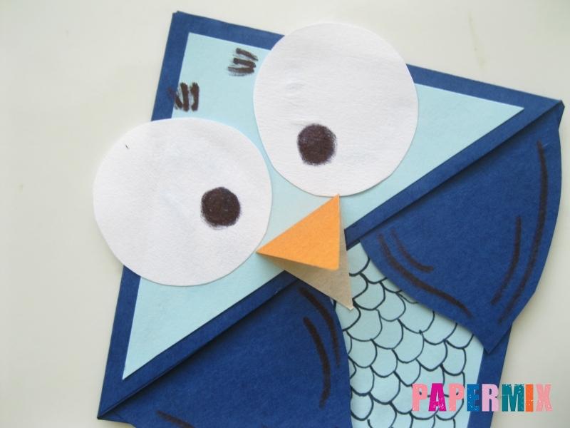 Как сделать закладку сову из бумаги своими руками - шаг 11