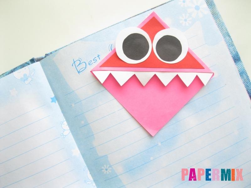 Как сделать закладку в форме зубастого монстра из бумаги - шаг 10