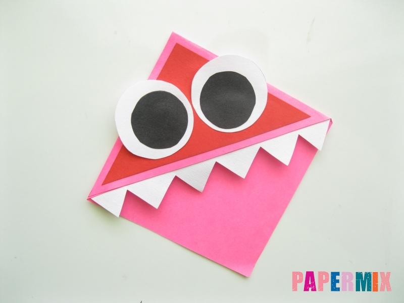 Как сделать закладку в форме зубастого монстра из бумаги - шаг 9