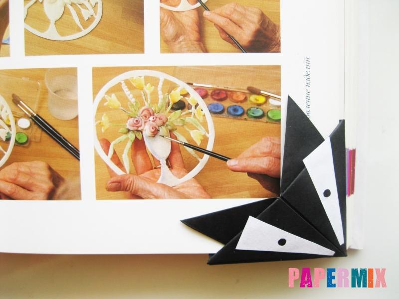 Как сделать закладку в виде енота из бумаги поэтапно - шаг 14