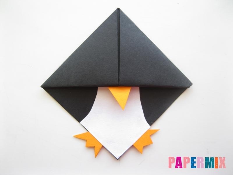Как сделать закладку в виде пингвина из бумаги поэтапно - шаг 12