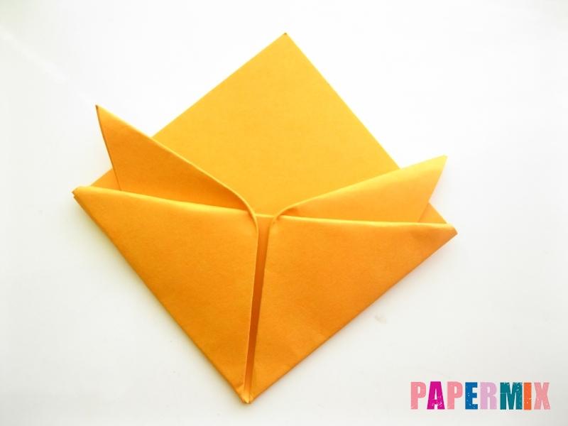 Как сделать закладку виде мордочки лисички из бумаги - шаг 11