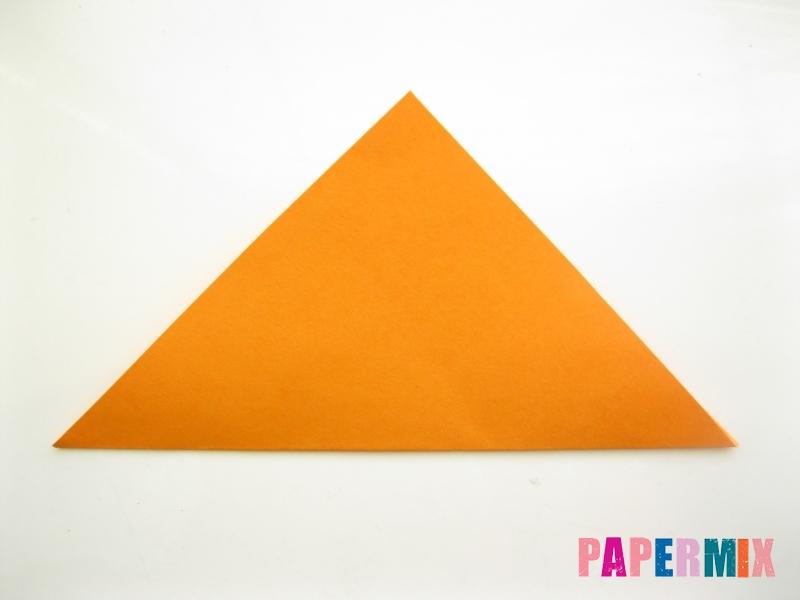 Как сделать закладку виде мордочки лисички из бумаги - шаг 3