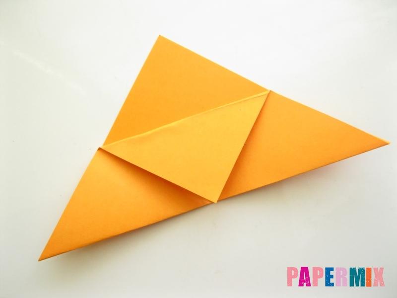 Как сделать закладку виде мордочки лисички из бумаги - шаг 6