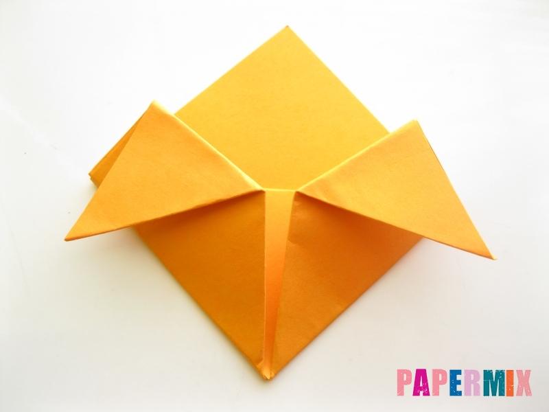 Как сделать закладку виде мордочки лисички из бумаги - шаг 9