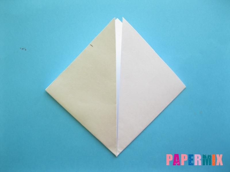 Как сделать закладку зайчик из бумаги поэтапно - шаг 5