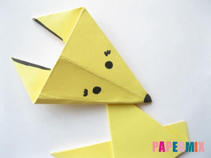 Как просто сделать лисичку из бумаги поэтапно - шаг 14
