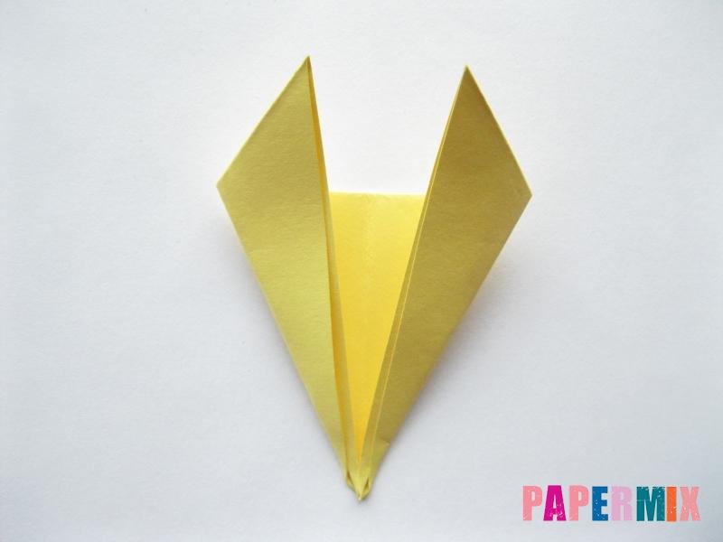 Как просто сделать лисичку из бумаги поэтапно - шаг 6