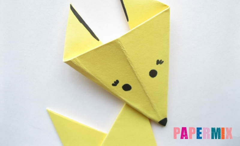 Как просто сделать лисичку из бумаги своими руками поэтапно
